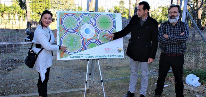 IZQUIERDA UNIDA PROPONE LA CONSTRUCCIÓN DE UNA GRAN ZONA VERDE EN UNA PARCELA MUNICIPAL SITUADA EN LAS PETUNIAS QUE ACTUALMENTE SE UTILIZA COMO ALMACÉN DE ENSERES