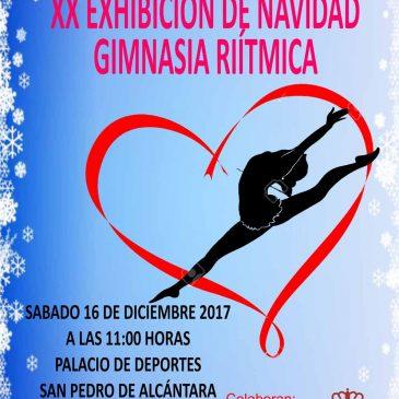 San Pedro Alcántara acogerá el próximo sábado la XX Exhibición de Navidad de las Escuelas Deportivas Municipales de Gimnasia Rítmica