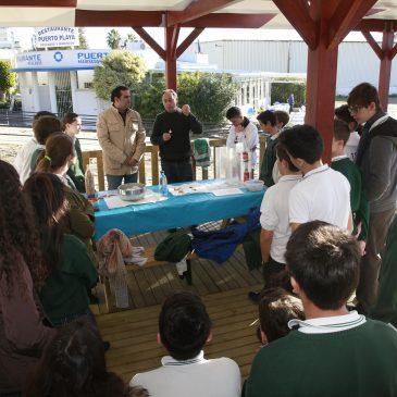 Un millar de escolares participa en la campaña Laboratorio Marino del Aula del Mar para concienciar sobre el cuidado a la flora y fauna del litoral