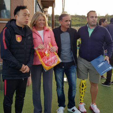 Ángeles Muñoz, ha visitado las instalaciones de Marbella Football Center
