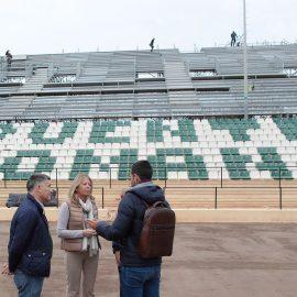 La cita con la Copa Davis en Marbella avanza con el inicio de los trabajos de instalación del graderío