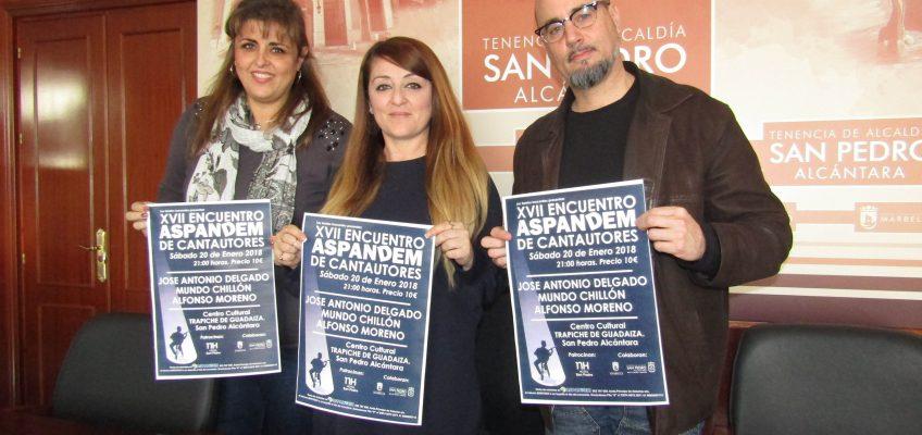 El Trapiche de Guadaiza de San Pedro Alcántara acoge este sábado el XVII Encuentro de Cantautores a beneficio de Aspandem