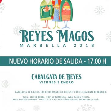 Las Cabalgatas de los Reyes Magos de Marbella y San Pedro Alcántara adelantan su salida a las 17.00 horas por las previsiones climatológicas