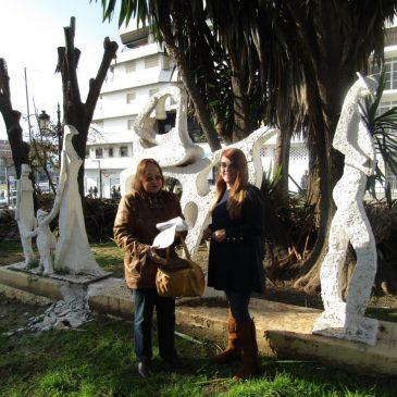 La escultura de Espona 'Regreso del Olivar' se trasladará a la rotonda central del bulevar con total garantía