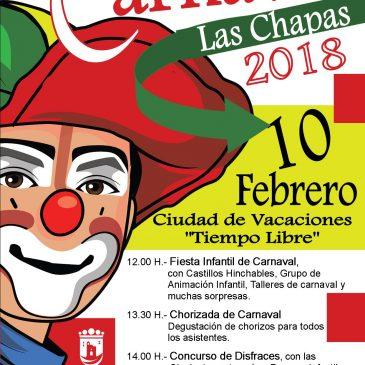 Las Chapas celebra el Carnaval este sábado con una gran fiesta en la Residencia de Tiempo Libre