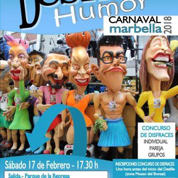 El Desfile del Humor del Carnaval recorrerá este sábado día 17 las calles de Marbella