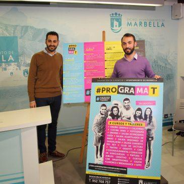 Juventud pone en marcha una nueva edición de Programa-T, que ofertará más de 21 talleres y actividades y más de 470 plazas