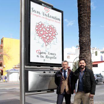 El Ayuntamiento pone en marcha la campaña 'Pon amor a tu regalo' para fomentar las compras de San Valentín en el comercio local