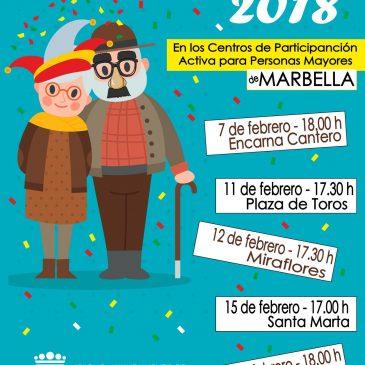 El Centro de Participación Activa para Personas Mayores Encarna Cantero acoge este miércoles la primera cita del Carnaval del Mayor 2018