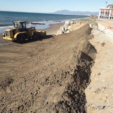 Trabajos de mejora en las zonas del litoral