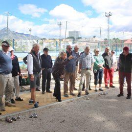 El Ayuntamiento amplía y remodela las pistas de petanca del Polideportivo Guadaiza de Nueva Andalucía