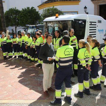 Limpieza refuerza el dispositivo especial para Semana Santa con la contratación de 67 personas de las bolsas de trabajo del Ayuntamiento