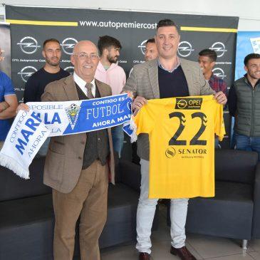 El Marbella FC agradece el apoyo de Autopremier Costa, concesionario de Opel Marbella
