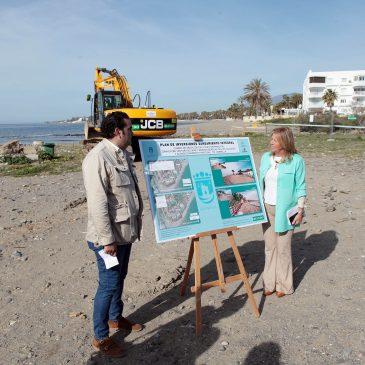 Arrancan los trabajos para reubicar el colector entre Ventura del Mar y el río Guadaiza, conectando el último tramo de la senda litoral entre Marbella y San Pedro