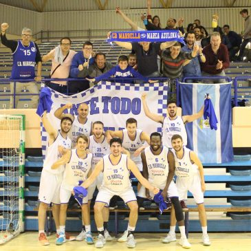 Club baloncesto marbella  La afición azulona llena las gradas del Ciudad de Algeciras