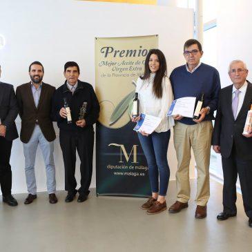 La Diputación de Málaga entrega sus XVII Premios al Mejor Aceite de Oliva Virgen Extra de la provincia a Bravoliva, Finca La Torre y SAT El Labrador
