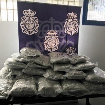 En una operación conjunta de la Policía Nacional y la Guardia Civil    Incautados 30 kilos de marihuana ocultos en un depósito de agua en Marbella (Málaga)