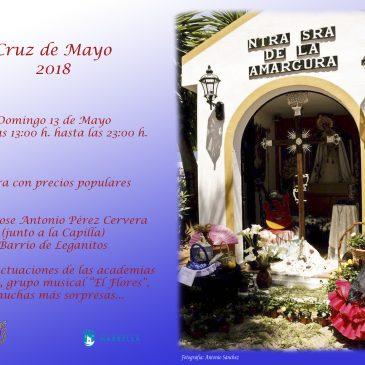 Cruz de Mayo en  Plaza Jose Antonio Perez Cervera, el domingo 13 de mayo.
