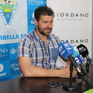 """Estévez: """"El principal objetivo es que el domingo vivamos una fiesta"""" Marbella, 11 de mayo de 2018."""