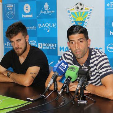 """Francis Ferrón y Sergio Narváez afrontan con """"ilusión"""" el playoff ante el Celta B"""