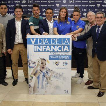 La Diputación y el Málaga C.F. volverán a llevar a los niños de la provincia a La Rosaleda en el V Día de la Infancia