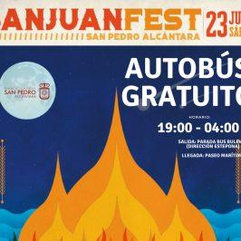 Un autobús gratuito conectará el Bulevar con la playa de San Pedro Alcántara para disfrutar de 'San Juan Fest'