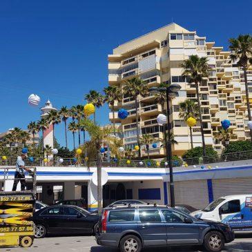 El Puerto Deportivo acomete labores de mejora y ornamentación y refuerza su seguridad para la celebración de la Feria