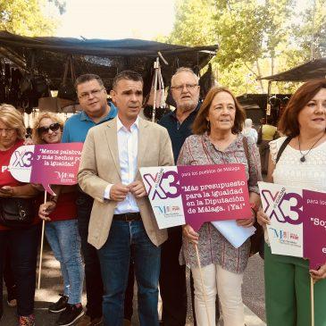 EL PSOE INICIA LA CAMPAÑA 'X3 EN IGUALDAD' QUE PIDE TRIPLICAR EL PRESUPUESTO DE DIPUTACIÓN PARA LA LUCHAR CONTRA LA DESIGUALDAD ENTRE HOMBRES Y MUJERES