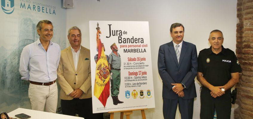 Alrededor de 700 personas participarán este domingo en la primera Jura de Bandera Civil en Marbella   El acto principal tendrá lugar a partir de las 12.00 horas en la avenida Ramón y Cajal, a la altura del Paseo de la Alameda