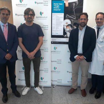 El Hospital Quirónsalud Málaga forma a especialistas en cirugía torácica uniportal