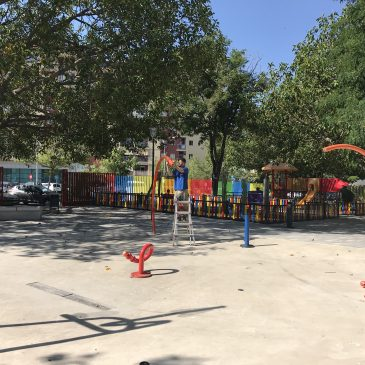 El Ayuntamiento pone en marcha el parque de agua de Plaza de Toros para el disfrute de los más pequeños  La instalación permanecerá abierta durante todo el periodo estival, de 8 de la mañana a 10 de la noche, y su uso es apto para todas las edades