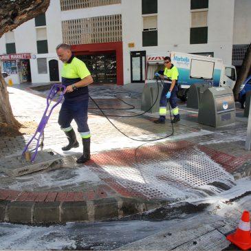Casi 200 operarios trabajarán en el Plan Intensivo de Baldeo en los Barrios que cubrirá 21 horas diarias de limpieza, casi 5 veces más que en 2017