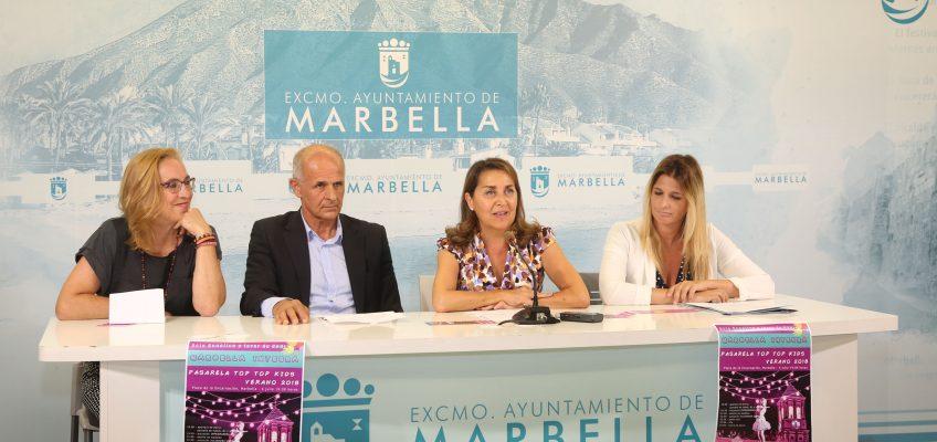 La plaza de la Iglesia será escenario mañana del evento 'Marbella Integra: Pasarela Top Top Kids Verano 2018' a beneficio de la asociación CADI