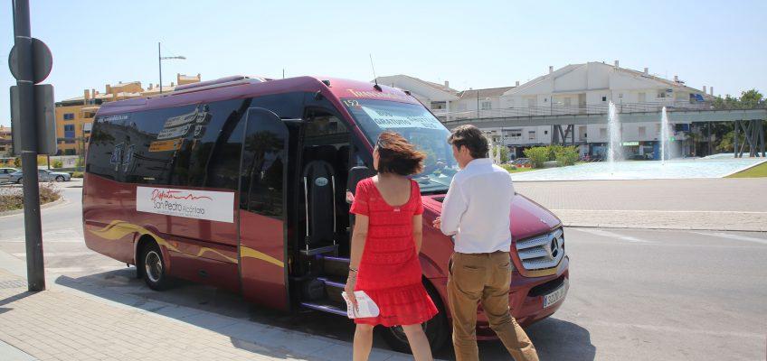 San Pedro pone en marcha una encuesta para que los ciudadanos aporten sus ideas de cara a mejorar el servicio del bus turístico