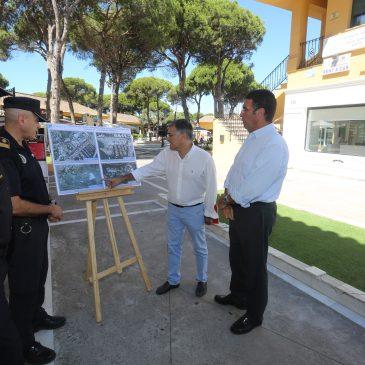 Comienzan los trabajos de instalación de la primera fase del sistema de videovigilancia en Las Chapas para el control del tráfico y la seguridad ciudadana