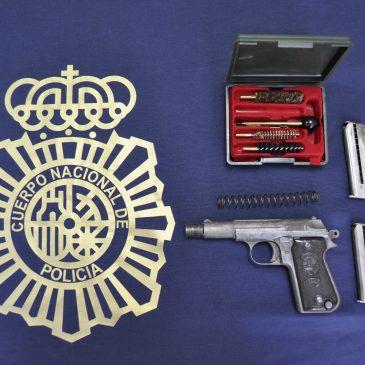 Operación conjunta de la Policía Nacional con la Guardia Civil  Desmantelada en Málaga una red criminal de tráfico de armas y munición