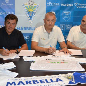 El Marbella FC presenta su nueva equipación  con Olivenet como patrocinador principal