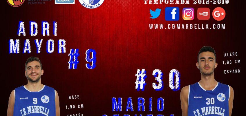 El CB Marbella renueva a los canteranos Adri Mayor y Mario Cervera para su proyecto EBA