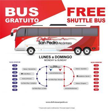 El bus turístico de San Pedro Alcántara conecta la playa con el centro cada 30 minutos y las zonas hoteleras cada hora