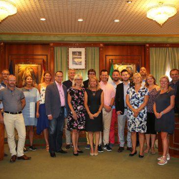 Marbella recibe la visita de una veintena de profesionales noruegos de diferentes sectores interesados en conocer la ciudad