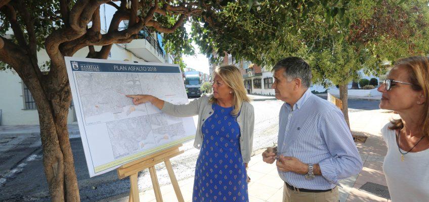 El Ayuntamiento destina más de 1,3 millones de euros a la renovación del asfalto de 41 viales de Marbella    Las actuaciones, que tendrán un periodo de ejecución de tres meses, contemplan el refuerzo y la sustitución del firme más agotado y envejecido por nuevas capas de rodadura