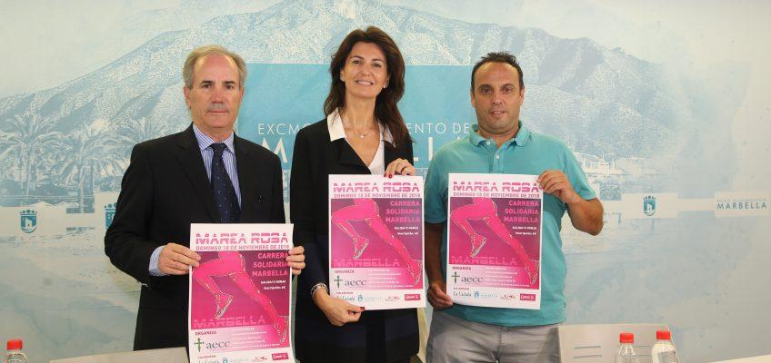 El centro de Marbella acogerá por primera vez la carrera solidaria a beneficio de la Asociación Española Contra el Cáncer, que celebra su octava edición tras siete años de éxitos en Puerto Banús