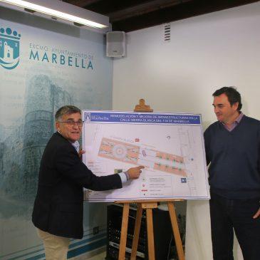 El Ayuntamiento peatonalizará la calle Sierra Blanca y modernizará las infraestructuras de esta vía con una inversión de más de 300.000 euros