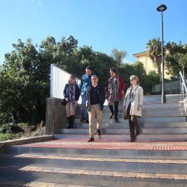 El Ayuntamiento culmina la integración urbana de Arroyo I con la ejecución de una escalinata que conecta Alfredo Palma con el bulevar Pablo Ráez