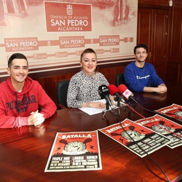 La segunda edición de la Batalla de Gallos reunirá a Triple XXX, Langui y Rayka el 22 de diciembre en la Carpa Municipal de San Pedro Alcántara