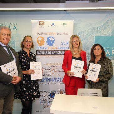 Marbella acoge la tercera edición de los 'Talleres de Literatura en las aulas: escuela de columnismo', que busca incentivar la expresión escrita y el articulismo juvenil en los institutos