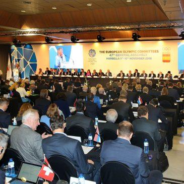 """Marbella se convierte en el """"escaparate del movimiento olímpico internacional"""" con la celebración de la Asamblea de los comités europeos"""