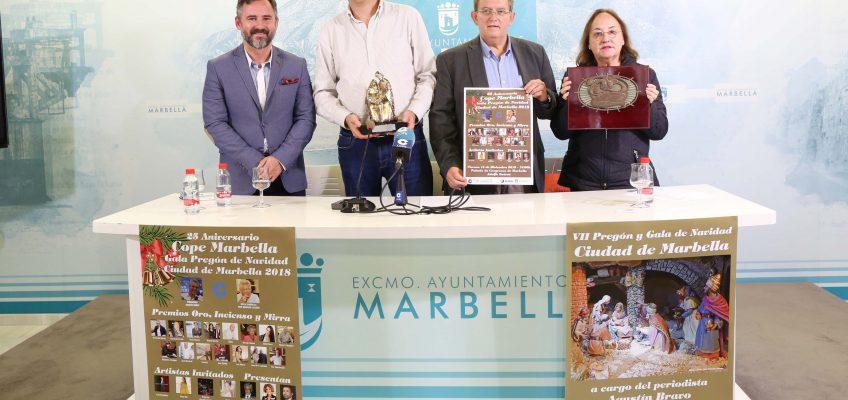 El VII Pregón y la Gala de Navidad Ciudad de Marbella tendrán lugar el próximo 14 de diciembre en el Palacio de Congresos Adolfo Suárez