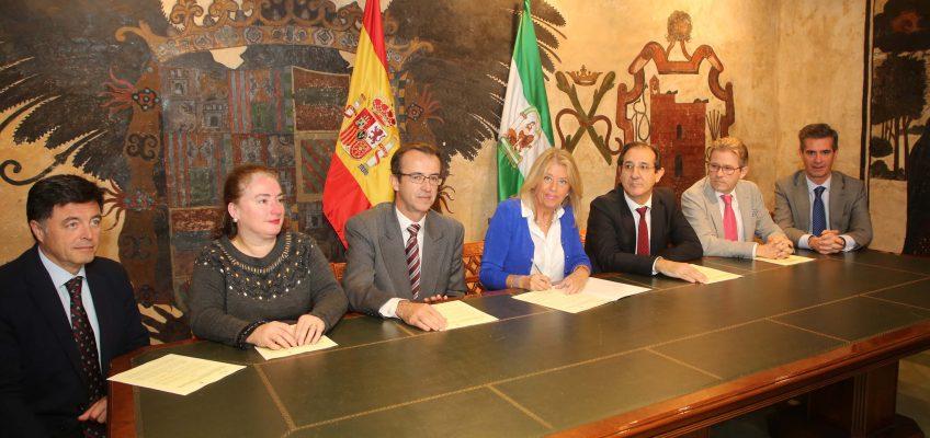 El Ayuntamiento suscribe el convenio para la cesión a la Junta de Andalucía del edificio que albergará el Palacio de la Justicia de Marbella