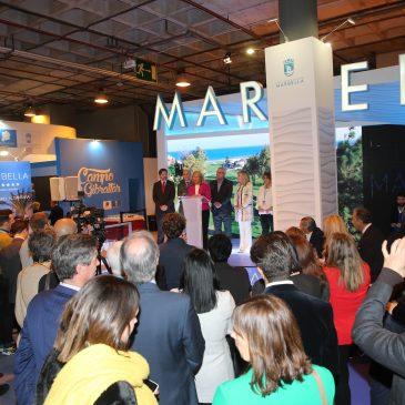 """Marbella hace gala de su potente oferta de ocio en la primera jornada de FITUR 2019  La alcaldesa ha reiterado que la ciudad se presenta en la cita de la capital española """"como un destino excepcional"""" y que en 2019 """"seguiremos la línea de fortalecimiento y consolidación de nuestra marca"""""""